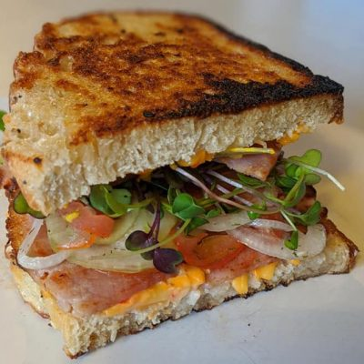 hot country ham & pimento cheese sandwiches